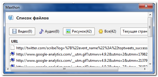 Maxthon Resource Sniffer